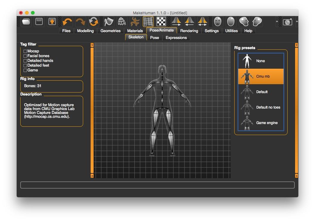 Motion Capture Data Import - Cheetah3D User Forum
