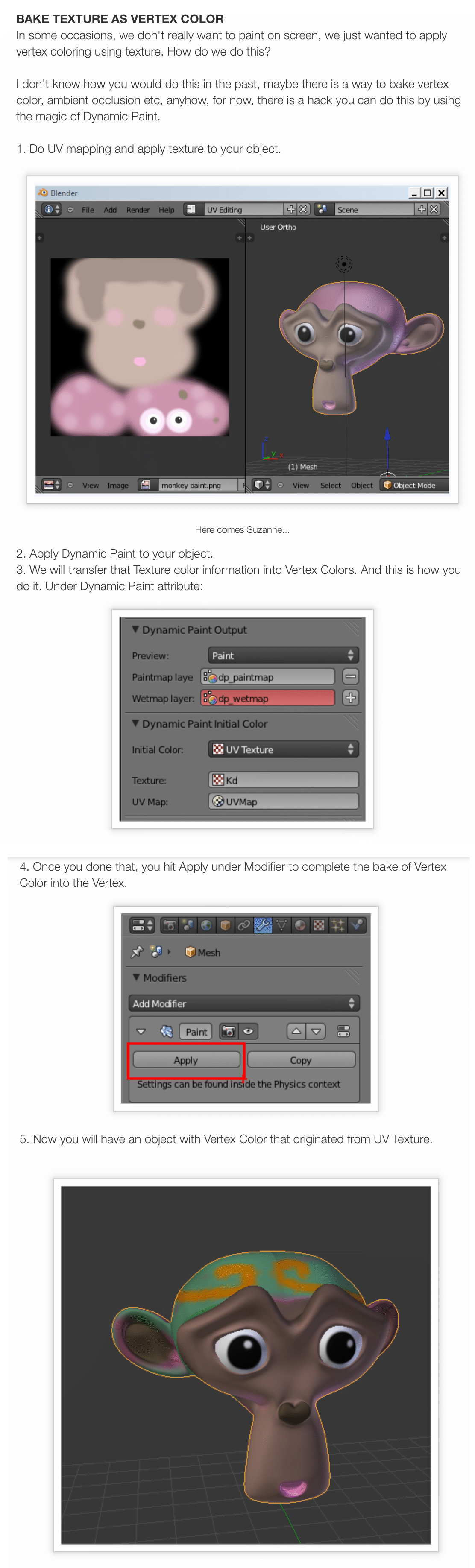 Bake Texture Maps into Mesh Vertex Colors    - Cheetah3D