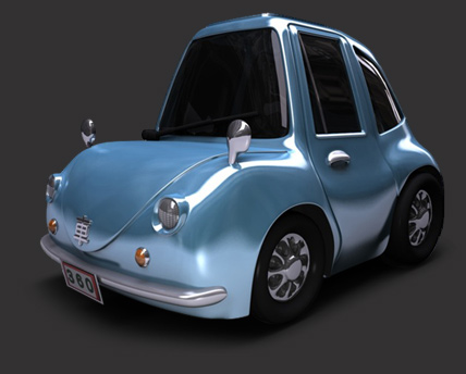 Cheetah3D Cartoon Car Render